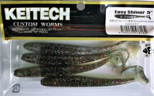 "Виброхвост Keitech Easy Shiner 5"" 011"