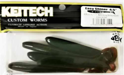 "Виброхвост Keitech Easy Shiner 4.5"" 030"