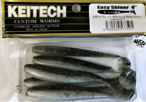 "Виброхвост Keitech Easy Shiner 4"" 011"