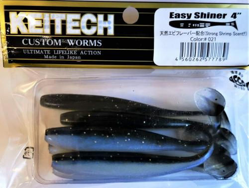 "Виброхвост Keitech Easy Shiner 4"" 021"