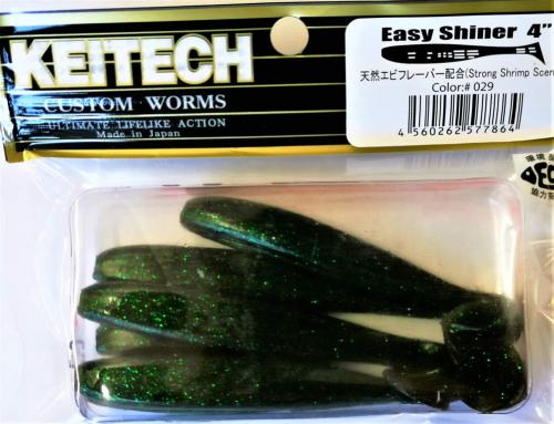 "Виброхвост Keitech Easy Shiner 4"" 029"