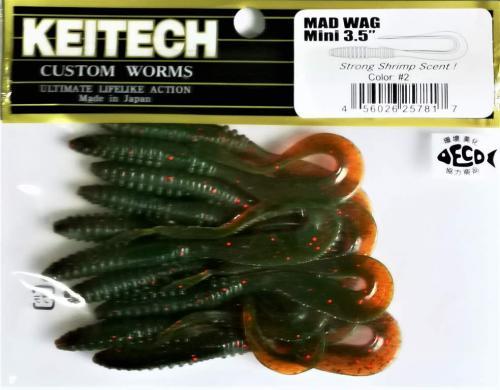 """Виброхвост Keitech Mad Wag 3.5"""" N2"""