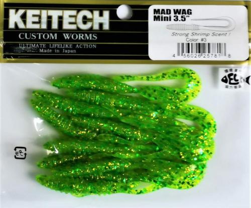 """Виброхвост Keitech Mad Wag 3.5"""" N3"""