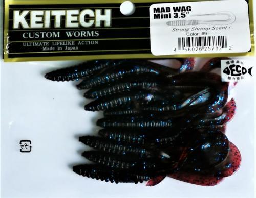 """Виброхвост Keitech Mad Wag 3.5"""" N9"""