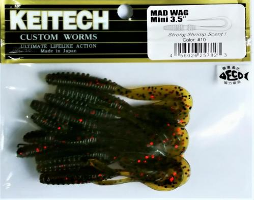 """Виброхвост Keitech Mad Wag 3.5"""" N10"""