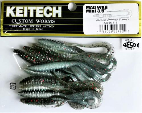 """Виброхвост Keitech Mad Wag 3.5"""" N11"""
