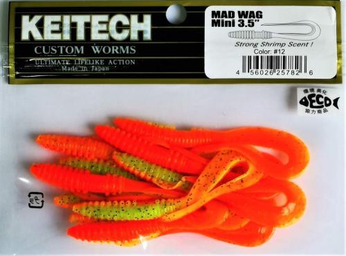 """Виброхвост Keitech Mad Wag 3.5"""" N12"""