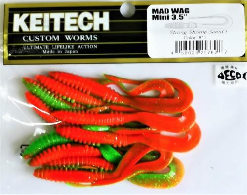 """Виброхвост Keitech Mad Wag 3.5"""" N13"""