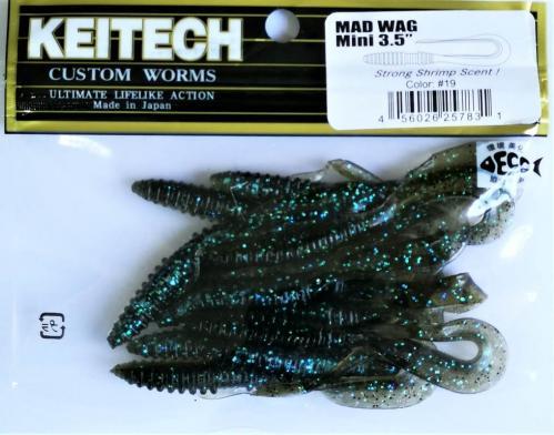 """Виброхвост Keitech Mad Wag 3.5"""" N19"""