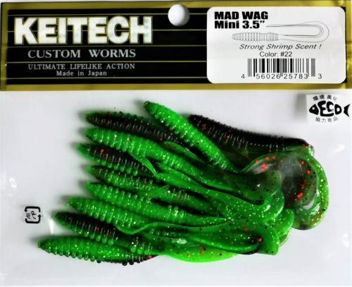 """Виброхвост Keitech Mad Wag 3.5"""" N22"""