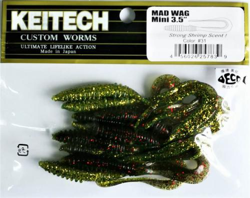 """Виброхвост Keitech Mad Wag 3.5"""" N31"""