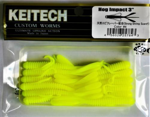 "Виброхвост Keitech Hog Impact 3.0"" N4"