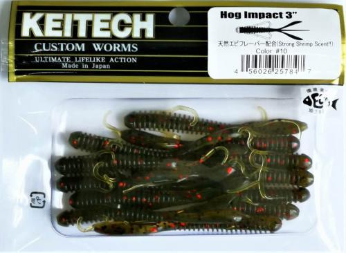 "Виброхвост Keitech Hog Impact 3.0"" N10"