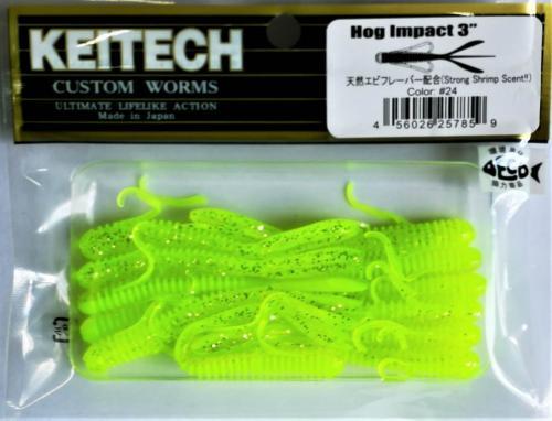 "Виброхвост Keitech Hog Impact 3.0"" N24"