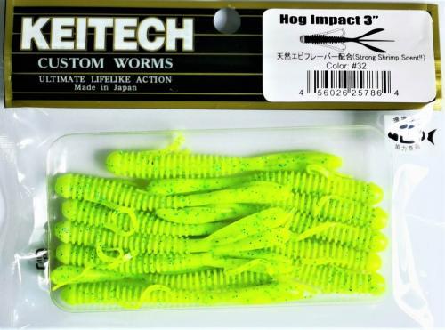 "Виброхвост Keitech Hog Impact 3.0"" N32"