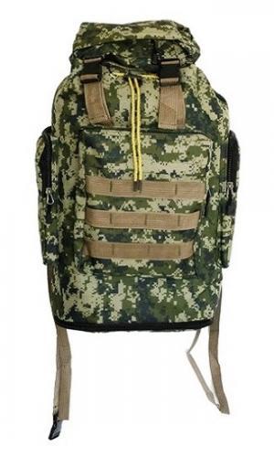 Рюкзак 8531 зеленый камуфляж цифра