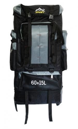 Рюкзак Sport 60л Серо-черный
