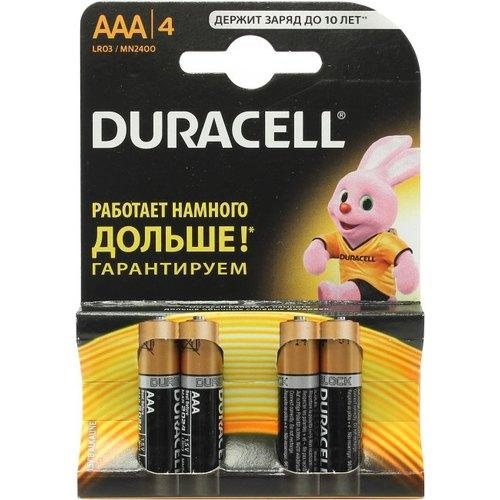 Батарейки Duracell LR03 ААА 4шт