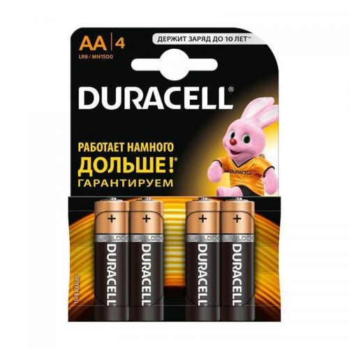 Батарейки Duracell LR6 АА 4шт
