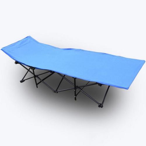 Туристическая раскладушка голубая