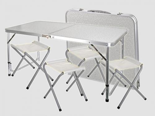 Складной стол со стульями 8812