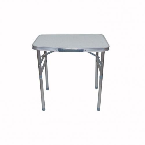 Складной столик бело-серый