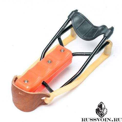 Рогатка с упором оранжевая