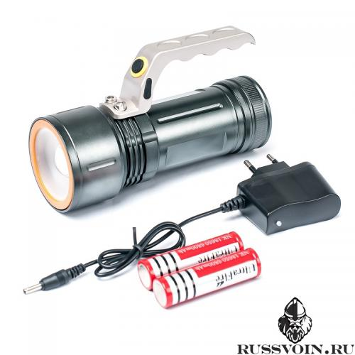 Фонарь аккумуляторный светодиодный 18650