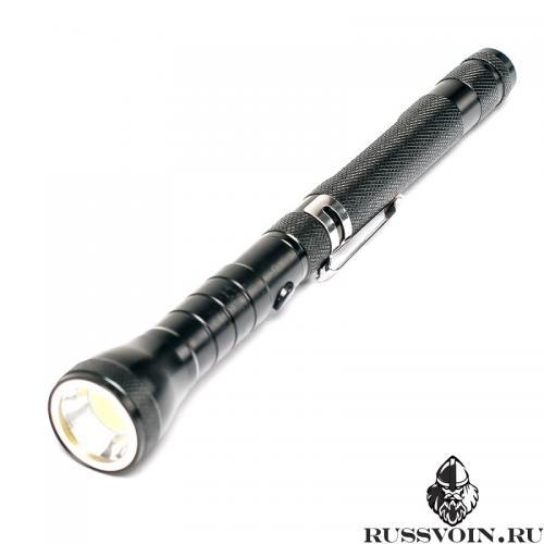 Телескопический фонарь черный