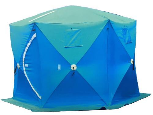 Палатка зимняя утепленная 2402 (2.4м*2.4м*2.1м)