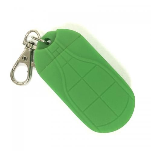 Брелок фонарик с магнитом зеленый