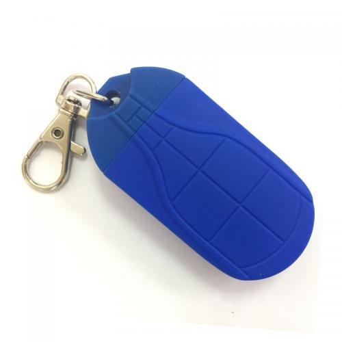 Брелок фонарик с магнитом синий
