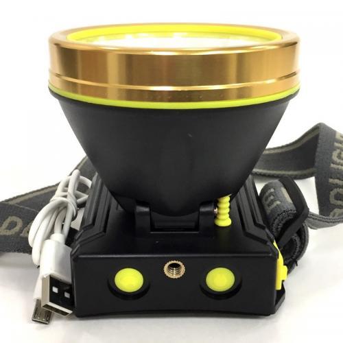 Налобный фонарь с желтым светом