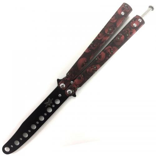 Тренировочный нож-бабочка Benchmade Красный