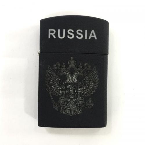 Бензиновая зажигалка Russia Черная