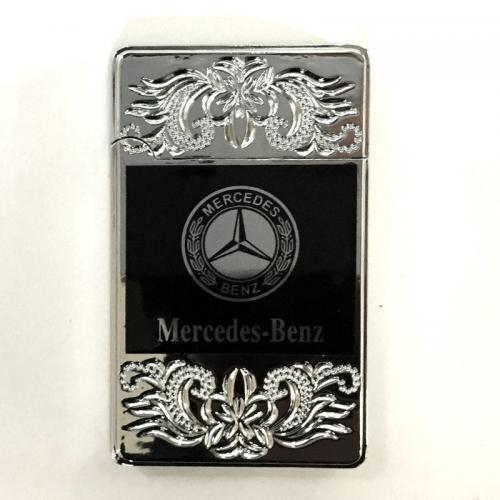 Зажигалка турбо Mercedes серебристая