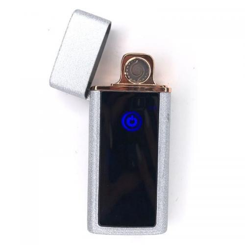 Зажигалка сенсорная USB Wolf Серебристая