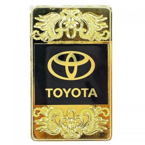 Зажигалка турбо Toyota Золотая