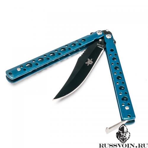 Нож бабочка Синяя Ночь фото