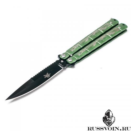 Нож-бабочка Зеленый Бамбук