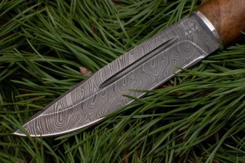 Финский нож Пуукко дамасская сталь