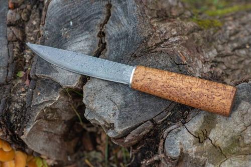 Якутский нож дамасская сталь