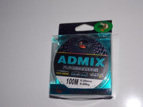 Флюрокарбоновая леска Admix 100м 0,18мм