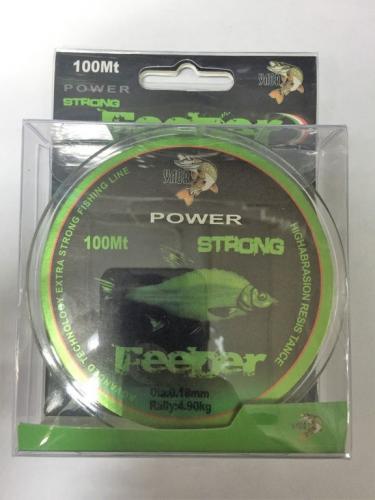 Флюрокарбоновая леска FEEDER 100м 0,18мм